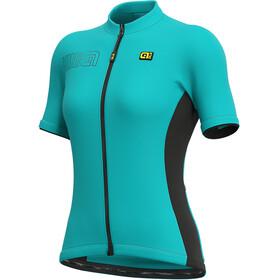 Alé Cycling Solid Color Block Maglietta a Maniche Corte Donna, turchese